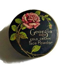 30's Art Deco Georgia Rose Powder Box Tin by PopcornVintageByTann