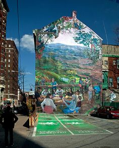 Credit: Jack Ramsdale/City of Philadelphia Mural Arts Program A Taste of Summer, Vetri Ristorante, 1312 Spruce Street Artist Ann Northrup first met Marc Vetri in 2003 while working on a project across the street from his eponymous restaurant. Together they conceptualised a lush mural about food as art and as a shared experience, influenced by the tim…