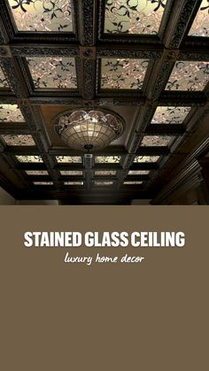 Luxury Home Decor, Luxury Homes, Custom Stained Glass, Glass Ceiling, Vintage Home Decor, Living Room Decor, Building, Career, Design
