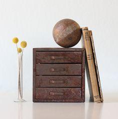 industrial metal drawers . merchandise photography