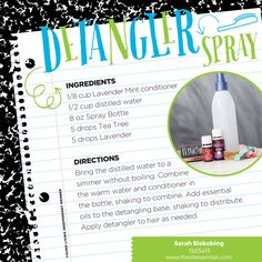 Help your kiddo get ready for school with this Detangler Spray recipe – it makes morning hair brushing so much easier!