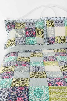 http://www.urbanoutfitters.com/urban/catalog/productdetail.jsp?id=24802167&color=049#/  Urban Outfitters Magical Thinking Bali Patchwork Sham - Set Of 2 $49 Color: Blue Multi