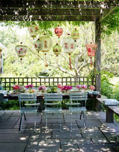 Sarah wants a girly party outside this year. With paper lanterns and everything.