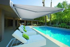 The Luxaflex Garda Awning is a semi-cassette folding arm awning with an oval design that adds an elegant appearance to any Australian home. #luxaflexaus #gardaawning #awning #luxaflexawning #garda #luxaflexnewyearsale