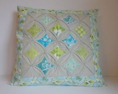 Pillow Cover Cathedral Window Grey 18