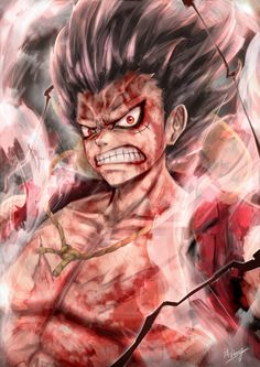 Luffy Gear Fourth: Snakeman Kaidou One Piece, One Piece World, One Piece Images, One Piece Luffy, Luffy Gear 2, Luffy Gear Fourth, Otaku Anime, Manga Anime, Anime Art