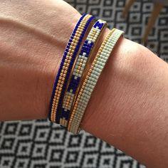"""111 Me gusta, 4 comentarios - Claire (@claired18) en Instagram: """"Un petit, 2 petits, 3 petits bracelets! D'autres vont suivre... #miyuki #tissageperles #bracelet…"""""""