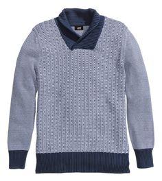 Knit Sweater - Blue - $34.95 - H&M