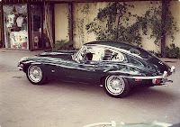 E-Type Jaguar - just room for you and the groom!
