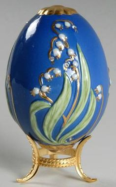 Franklin Mint Faberge Imperial Jeweled Egg Collection Czarina's Bouquet-Blue - No Box Fall Home Decor, Autumn Home, Fabrege Eggs, Egg Shell Art, Grenade, Egg And I, Egg Crafts, Egg Art, Egg Shape