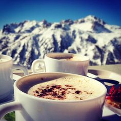 There is no better place to enjoy a cup of hot chocolate than in #serrechevalier