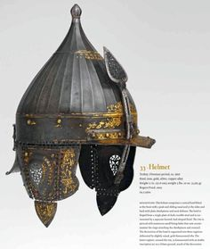 """Helmet from """"Islamic Arms and Armor: in The Metropolitan Museum of Art"""", 2016 by David Alexander, Stuart W. Pyhrr, Will Kwiatkowski. First class research publication that demonstrates the strong side of the authors (Islamic armor), one of the best reviews of the subject illustrated by some of the best examples in existence, but it also refers to other publications and collections, which allows for a presentation that is relatively complete and executed with much integrity and…"""