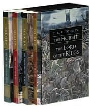 The Hobbit and LOTR Series by J.R.R. Tolkien: The first book, The Hobbit, tells the story of Bilbo Baggins as he is taken on a wild adventure where he goes to steal the treasure of a fearsome dragon. The series is continued in the next three books with the focus shifting to Bilbo's nephew Frodo and his quest to destroy an evil ring.