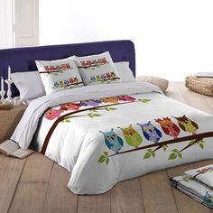 Donating Bed Linen To Charity Key: 6428241464 Bed Sheet Painting Design, Fabric Painting, Owl Quilts, Applique Quilts, Quilt Baby, Owl Bedding, Bedding Sets, Bed Sets, King Duvet Cover Sets