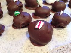 Mint Chocolate Truffles, a new must for my holiday candy making!