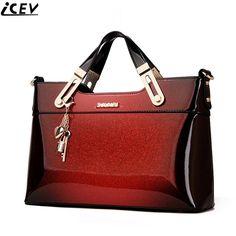 66399991b 2018 designer de bolsa de couro de patente de alta qualidade do sexo  feminino sacolas bolsa mulheres marcas famosas saco do mensageiro senhoras  trabalho ...