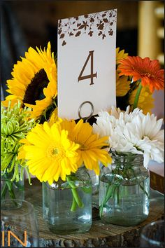 this is totally my idea for center pieces, mason jars for flowers for candles for pictures!