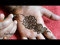 here is a video on simple henna mehndi designs for hands step by step for beginners for more videos click below links:-) mehndi designs. Mehandi Designs Easy, Arabic Mehndi Designs, Mehndi Patterns, Latest Mehndi Designs, Mehndi Designs For Hands, Mehndi Tattoo, Mehndi Art, Henna Mehndi, Mehendi
