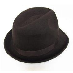 Buy Mens Brown Wool Winter Dress Derby Bowler Hats Men SKU-159011 14d1553d2eba