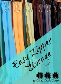Tutorial: Easy zipper storage
