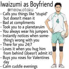 Haikyuu Iwaizumi, Haikyuu Funny, Haikyuu Fanart, Anime Boys, Cute Anime Guys, Manga Anime, Boyfriend Best Friend, Anime Boyfriend, Your Boyfriend