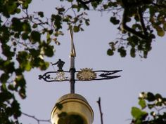Weathervane on the Church of Seiffen with Bergman - Miner.  Pinned by www.mygrowingtraditions.com