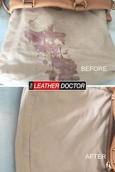 food spilt on the inside of a leather bag is not ideal. but calling the leather and fabric doctor to help is a great idea! We will get it out, and leave your leather and fabric looking good as new! Leather Handbags, Leather Bag, Leather Repair, Leather Cleaning, How To Get, Fabric, Food, Tejido, Leather Purses