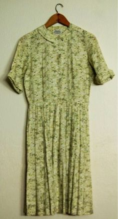 Green print Villager dress.  I had this and loved their beautiful prints.