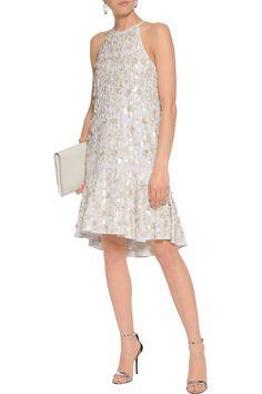 Shop on-sale Diane von Furstenberg Kera sequin-embellished crepe mini dress.  Browse 41cba41c2