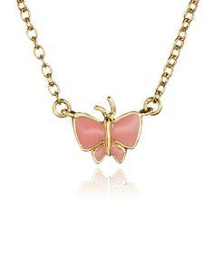 Pink Butterfly Necklace #zulily #zulilyfinds