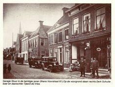 Garage Stuur aan de voorstraat in Kollum, later garage A.Wouda, dealer van Vauxhall en Bedford