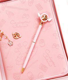 Sakura Roller Pen from pennycrafts Stationary School, Cute Stationary, Sakura Card Captor, Cardcaptor Sakura, Kawaii Pens, Otaku Room, Unicorn Fashion, Roller Pen, Cute Journals