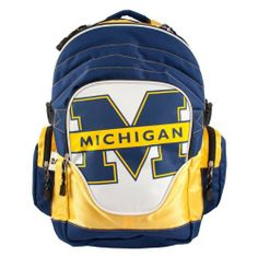 NCAA Michigan Wolverines Premium Backpack by Littlearth. $39.00. It's all about the features with Littlearth's Premium Backpack.  Littlearth's Premium Backpacks are perfect for the college-aged fan, offers loads of features, comfort, and style!  Made of durable Sportech polyester.  Features officially licensed team logo in blown-out design.  Has one large compartment and inner padded laptop sleeve, organizer pocket, and generous mesh side pockets.  Includes league and team ...