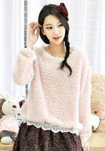 SALE: Snowflake Laced Knitted Cardigan @ $69 SGD only! (Available in: Pink, Ivory)