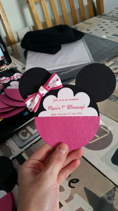 Minnie Mouse Birthday invites