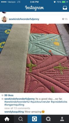 60 Trendy Free Motion Quilting Designs For Borders Inspiration Patchwork Quilting, Quilt Stitching, Longarm Quilting, Free Motion Quilting, Quilting Tutorials, Quilting Projects, Quilting Ideas, Machine Quilting Patterns, Quilt Patterns