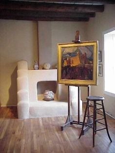 Blumenschein Home & Museum, Taos. Ernest L. Blumenschein, who became captivated by the scenery in Taos when he and a friend were traveling through and a wagon accident forced them to stay in Taos. Blumenschein told other artists of the beautiful scenery and returned to Taos, where he helped create the Taos Art Colony.