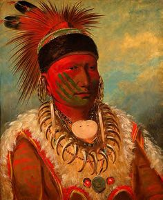 Catlin, George (1796-1872) - 1844 The White Cloud, Head Chief of the Iowa