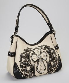 Love this White & Black Stud Cross Handbag by Montana West on #zulily! #zulilyfinds   I love this bag so much!!
