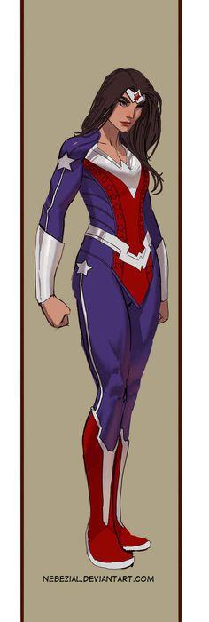 Holy Crap its Captain Wonder Woman by nebezial (Stjepan Sejic) Comic Book Characters, Comic Book Heroes, Comic Character, Female Characters, Character Design, Comic Art, Comic Books Art, Superman, Batman Art