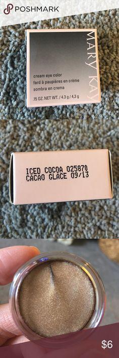 Iced cocoa cream eyeshadow Brand new in box Mary Kay Iced cocoa cream eyeshadow Mary Kay Makeup Eyeshadow