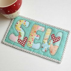 SEW Mug Rug | I'm playing with my Patchsmith Applique and Mu… | Flickr