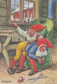 peintre illust jenny nystrom - Page 10 Christmas Pictures, Christmas Art, Christmas Illustration, Illustration Art, Illustrations, Kobold, Elves And Fairies, Fairytale Art, Beautiful Fairies