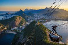 Rio de Janeiro - Beautiful sunset light over Rio de Janeiro seen from Pão de Açúcar.