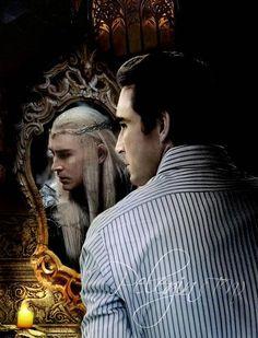 Lee Pace as Thranduil - the mirror never lies.