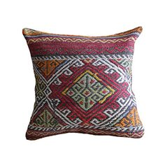 "Turkish Kilim Pillow Cover 16x16 Boho Pillow Southwest Pillow Tribal Pillow Kilim Cushion Kelim Kissen interior design Bohemian pillow Tribal Pillow Rustic Pillow Lumbar pillow m106. FEATURES - 16""x16"" Square (40x40 cm) - Orginal Turkish kilim - Back of pillow is 100% cotton canvas - Color matched zipper closure - Dry clean only -Express Delivery by Fedex in 5 days."