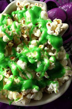 Halloween Food - Ectoplasm Slimed Popcorn