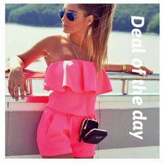 DEAL OF THE DAY Deal of the daysexy club wear summer Playsuit romper bodycon. When ordering please order a size large then you usually take it's cut small Pants Jumpsuits & Rompers
