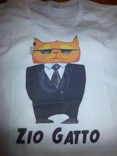 Maglietta Personalizzata per Zio Gatto