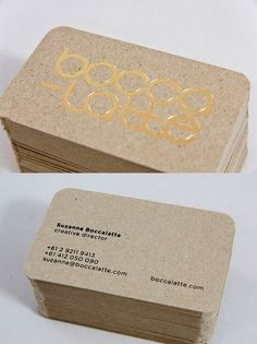 cartes visites --- love using Kraft paper for business cards! Business Branding, Business Card Design, Creative Business, Name Card Design, Bussiness Card, Minimalist Business Cards, Round Business Cards, Calling Cards, Foil Stamping